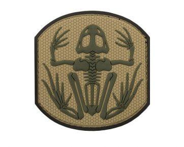 PVC Tan Skeleton Frog Patch