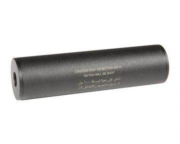 "Stay 100 meters back"" Covert Tactical Standard 40x150mm silencer"