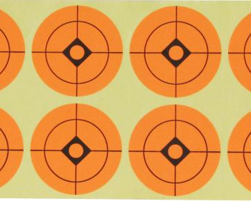 Orange sticker targets