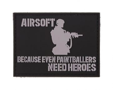Airsoft. Because even paintballers need heros morale patch