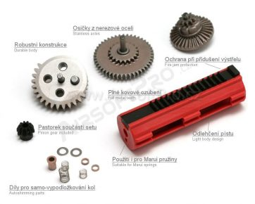 CNC GEAR SET WITH PISTON
