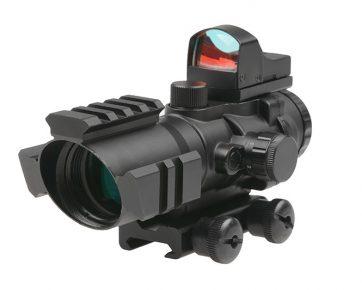 Rhino 4X32 Scope with Micro Red Dot Sight