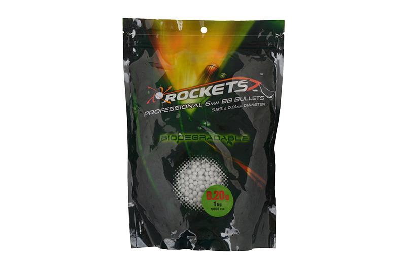 Rockets Professional BIO 0,20g BBs - 1kg - white