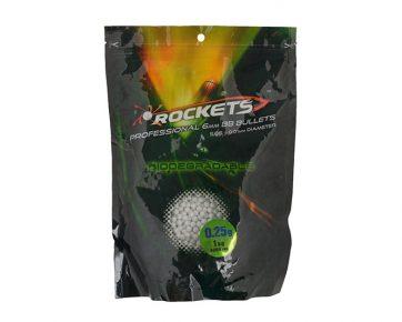 Rockets Professional BIO 0,25g BBs - 1kg - white