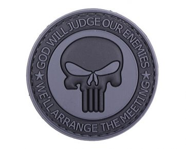 3D Patch – God Will Judge Our Enemies - black