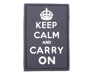 3D Patch - Keep Calm And Carry On - black