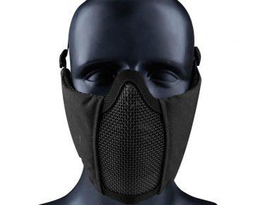 Nuprol Tactical Gear Soft Side Mesh Face Mask (Black)