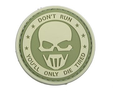 3D Patch – Don't Run Ghost - Olive